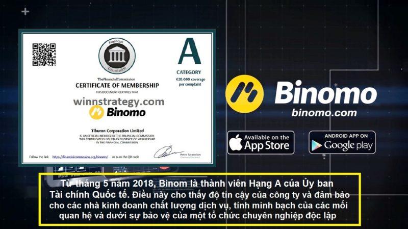 Gửi tiền và rút tiền trên Binomo